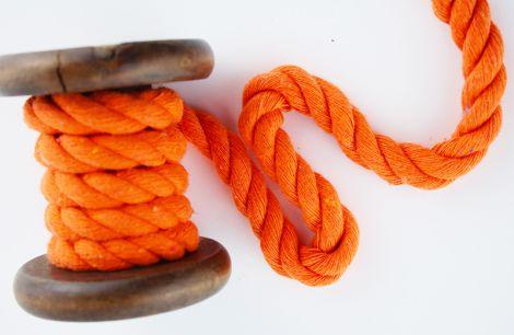 Baumwollkordel XL 12 mm gedreht - ORANGE