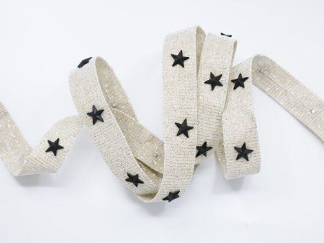 NIETENZ - GLITTER STARZ hellbraun & black stars