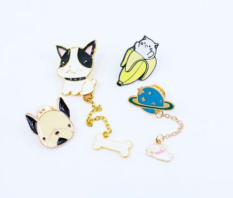 METALL PINS - FRENCHIES & CATS