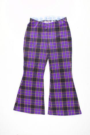 Damen Schlaghose - Biobaumwolle Kariert Lavendel (durchsichtig)  (Made to Order)